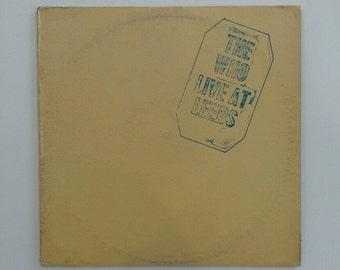 The Who - Live At Leeds  vinyl record album LP
