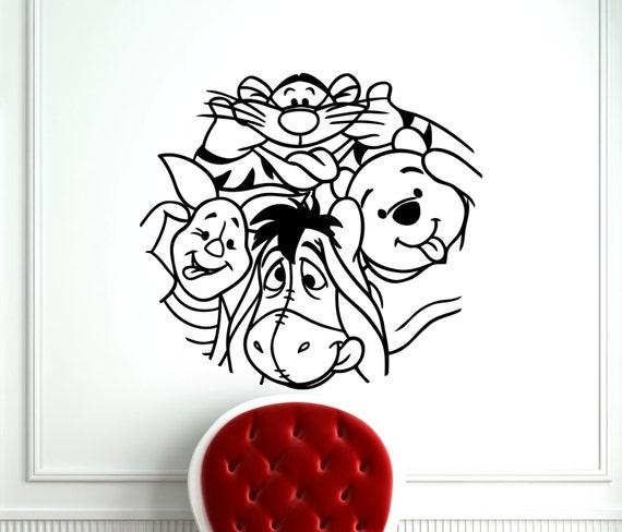 winnie the pooh wall sticker pooh bear tigger piglet eeyore winnie the pooh wall sticker pooh bear tigger cartoon vinyl