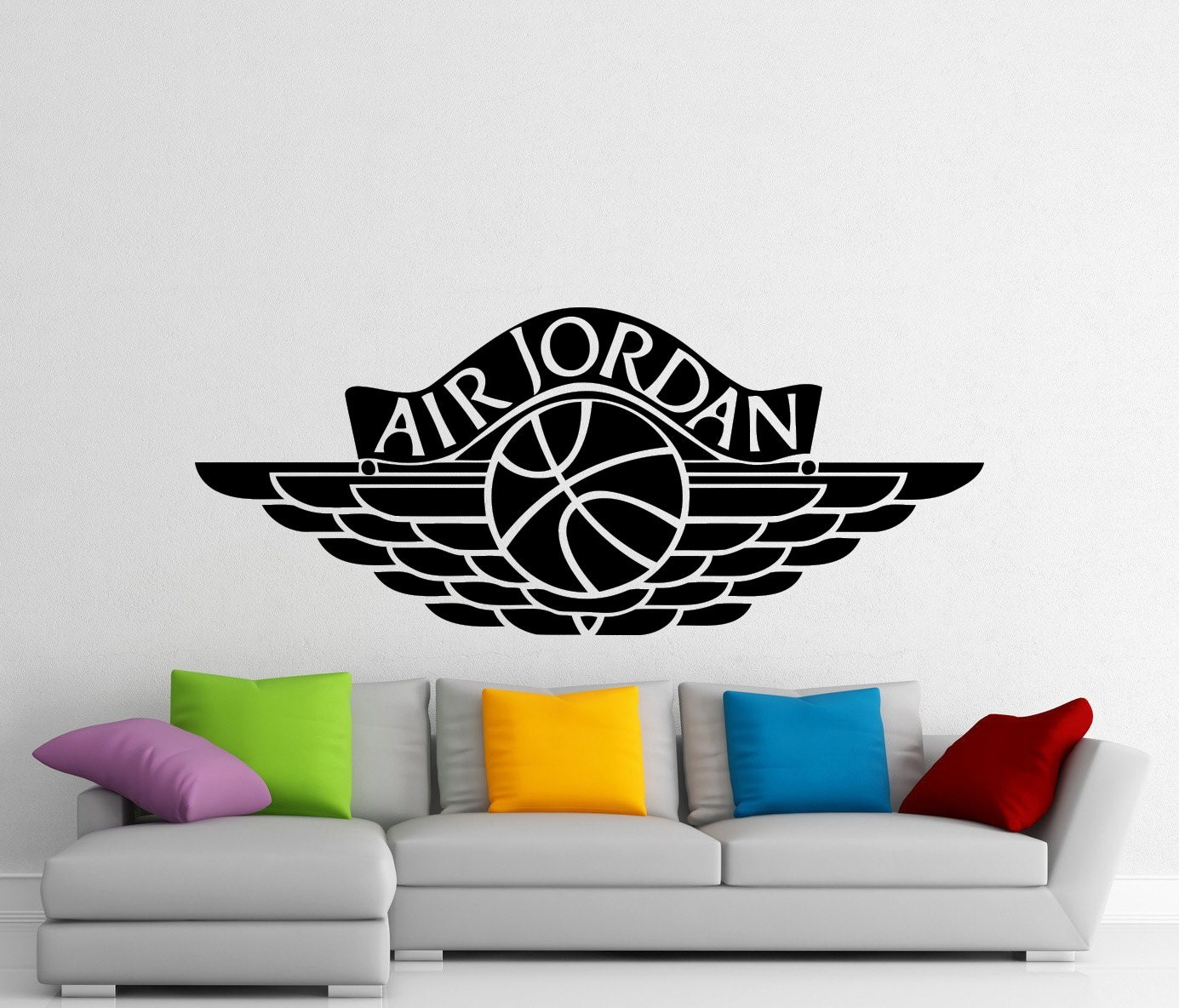 air jordan wall sticker sports basketball logo vinyl decal michael jordan 23 decal wall sticker art home decor