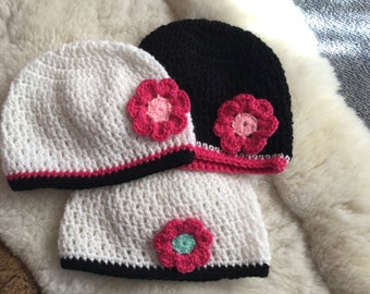 Toddlers crochet beanies