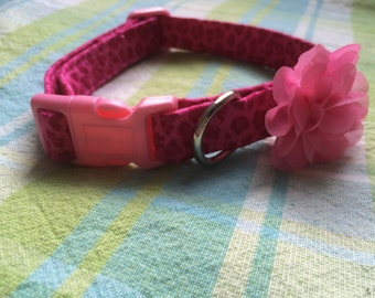 pink leopard collar