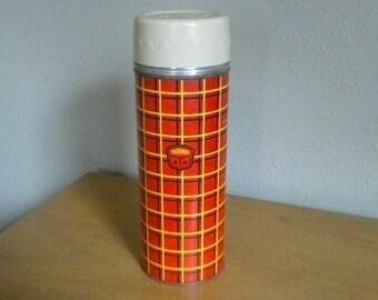 Vintage Thermos Plaid