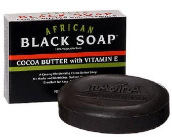 African Black Soap - Cocoa Butter with Vitamin E