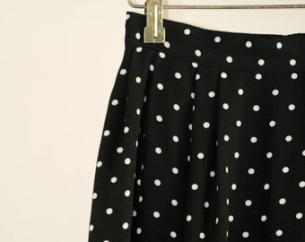 Vintage Midi Polka Dot Skirt