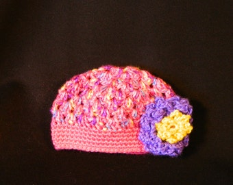 Crocheted Baby Beanie Hat 6 - 12 months old