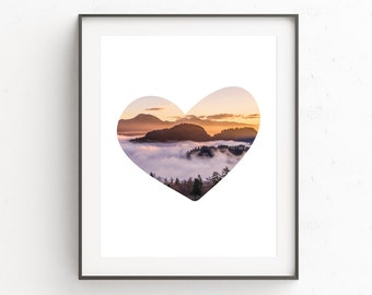 Mountains Print Art | Fog Art | Mountains Range