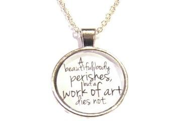 Leonardo Da Vinci Quote Pendant - DaVinci Quote Necklace - Gift for Artist - Gift for Writer - Gift Ideas - Gifts for Women - Unique Jewelry
