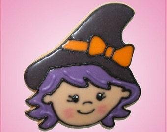 Pink Witch Head Jessica Cookie Cutter