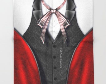 Black Butler Grell Sutcliff Top Throw Blanket
