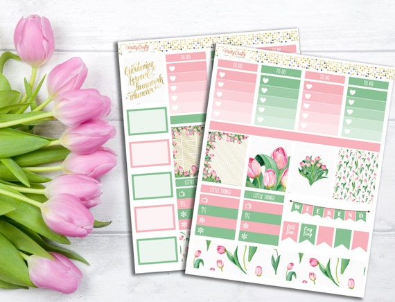 Tulips Stickers Kit - Perfect for the Erin Condren life planner