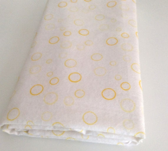 Yellow and White Baby Wrap, Blanket, Swaddle 100 cm x 120 cm, Bubbles Pattern,Soft 100% Cotton