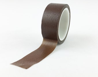 Solid Brown Washi Tape // 15mm // Paper Tape // BBB Crafting Supplies {CR-W-L096}