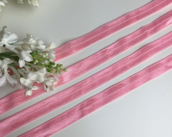 Hair Elastic pink 3 metres Headband Hairband DIY plain girl