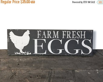 ON SALE Farm Fresh Eggs - Farmhouse Kitchen - Farmhouse Decor - Rustic Decor - Rustic Kitchen - Farmhouse Sign - Country Kitchen - Chicken S
