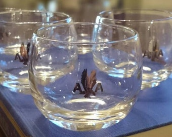 Collection of 5 American Airlines Roly Poly glasses