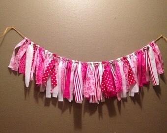 Valentine Rag Tie Garland