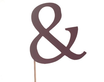 Ampersand Cupcake Toppers - Set of 12