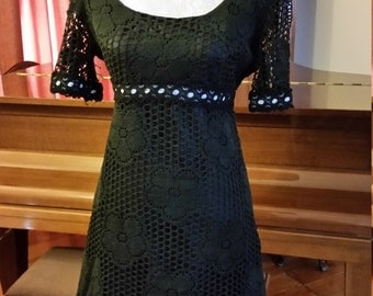 1960s Berkertex Black Mini Dress.Very Mary Quant!