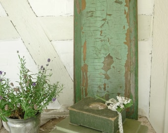 Antique shabby, chippy, faded door panel, incredible patina....CHARMANT!