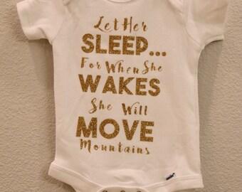 Let her sleep onesie
