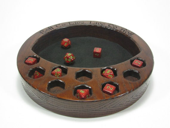 The Crescent Dice Tray W/Dice Display Dice Tray by ...