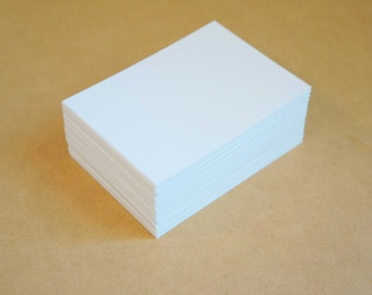 """marker paper 100 sheets - FREE Shipping - 2.5"""" x 3.5"""" blank ACEO art cards smooth white Hammermill 80lb cover cardstock for copic markers"""
