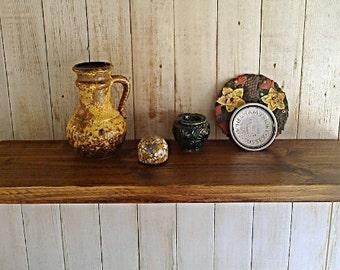 """Floating Shelves, Wall Shelves, Pine Wood  - 9"""" Deep - 1ft - 6ft - Dark Oak Natural Wax ..."""