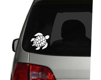 Sea Turtle Vinyl Car Decal