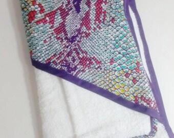 African print baby bath gift set, hooded towel, kids hooded towel, washcloth