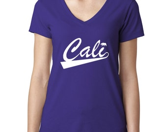 CALI Ladies V-Neck The Golden State Ladies V-Neck Tshirt