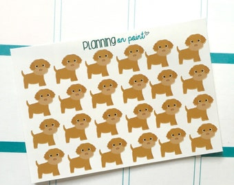 Golden Doodle Puppy Dog Planner Stickers!