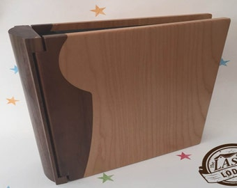 Personalised Wooden Photo Album Ideal as a Wedding or Anniversary Gift
