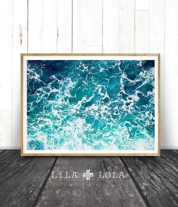 Ocean Print Ocean Art Ocean Waves Wall Art Print By Lilaxlola