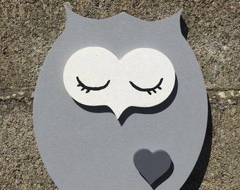 Hand made and hand painted sleepy owls