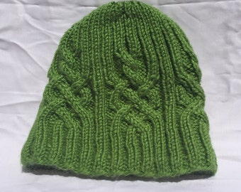 Jungle Green Cable Knit Beanie