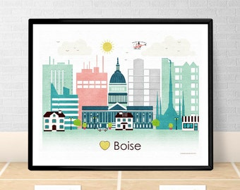 home decor stores boise idaho idaho wall etsy 12440