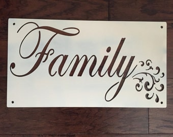 Family Sign Metal