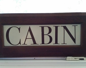 Cabin, home decor, cabin decor, wood sign, cabin sign, drawer front