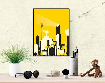 make up city -yellow | printable poster | 8x10 inches
