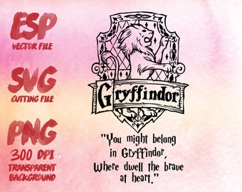 Gryffindor home logo slogan Clipart , SVG Cutting , ESP Vectors files , T shirt , iron on , sticker ,Personal Use