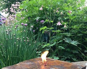 Rock Candle Lamp Handmade Montana
