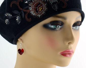 Red Heart Earrings - E2596