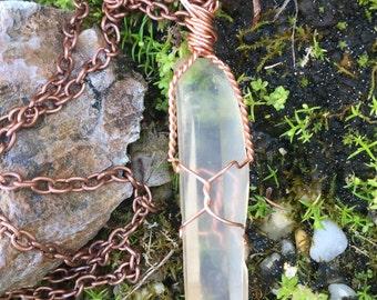 Lemurian Quartz Necklace