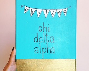 Painted Bunting Canvas: Sorority + Name