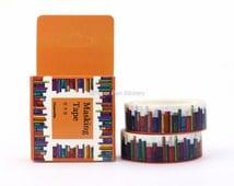 Washi Tape Box Book Craft Project Planner Decoration, Planning Journal Stationery Supply Decorative Masking Tape FSAWAP