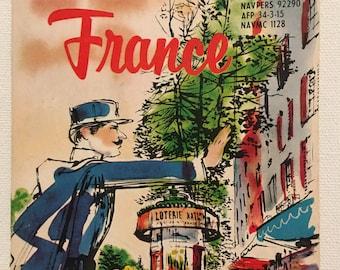 Pocket Guide to France, Vintage Guide,Midcentury, France