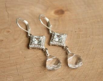 CZ Bridal Earrings | Swarovski Crystal Earrings