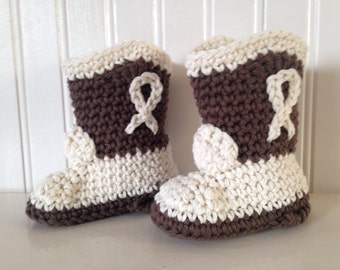 Crochet Cowboy Boots, baby bootie, kids cowboy boots