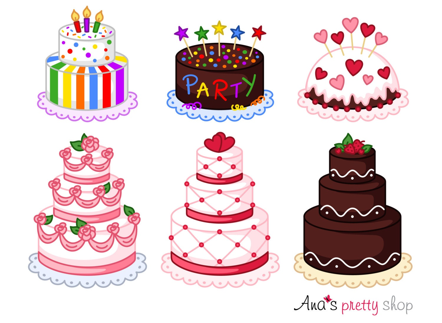 Cake clipart bakery clipart pastry clipart wedding cake