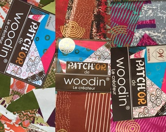 Beautiful Woodin Modern Multicoloured  Patchwork Cotton Fabric   (Made in Ghana & Ivory Coast)